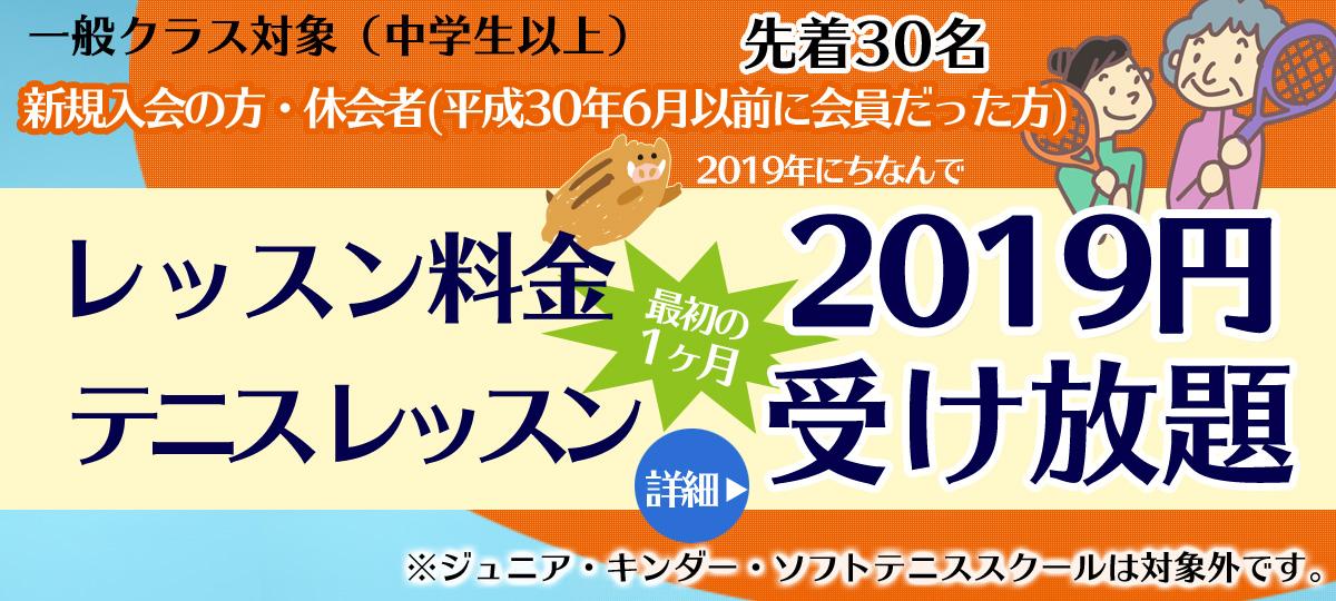 埼玉県草加市のインドアテニススクール レッスン受け放題キャンペーン