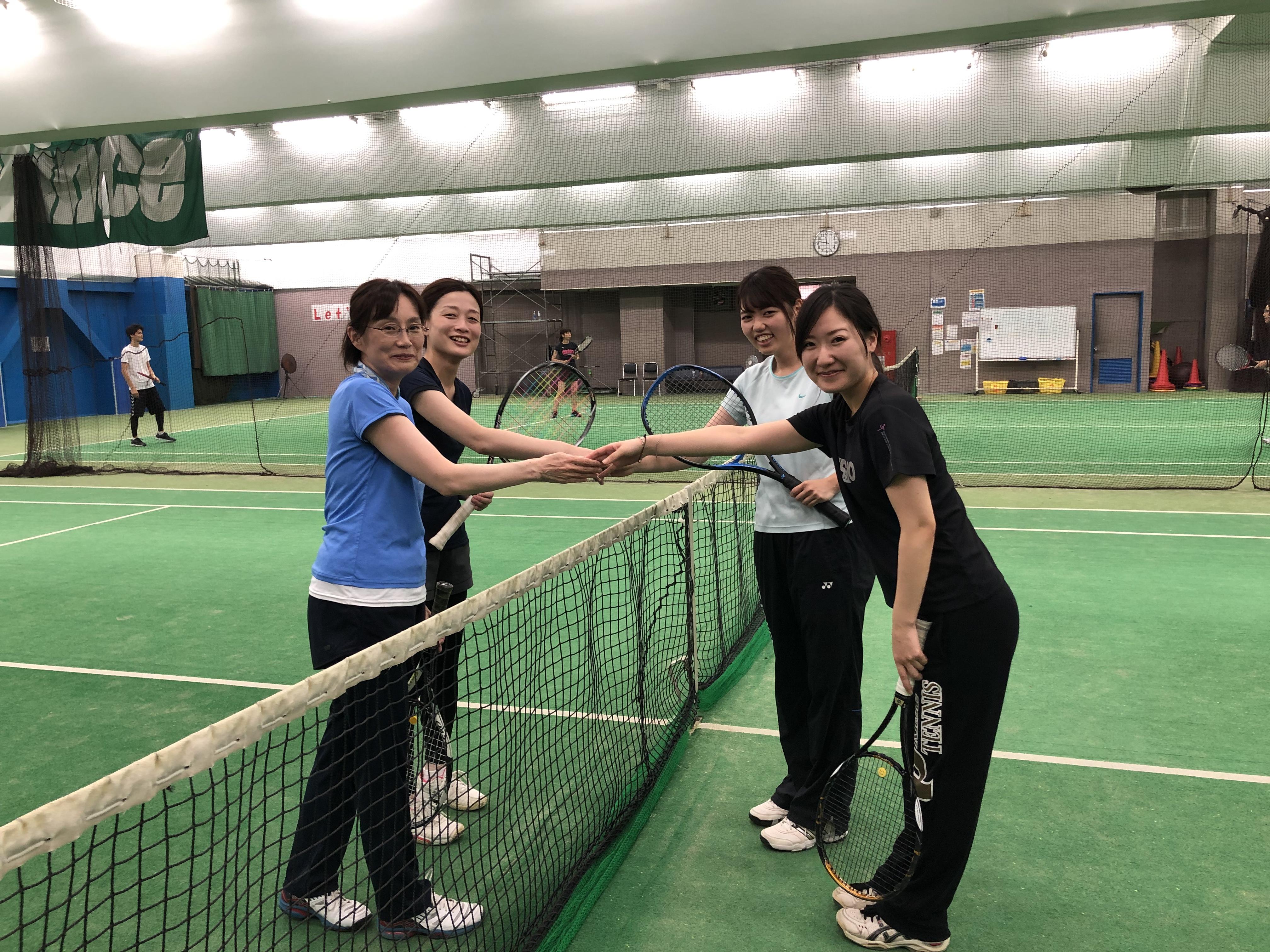 テニススクールダブルスマッチ練習会を開催