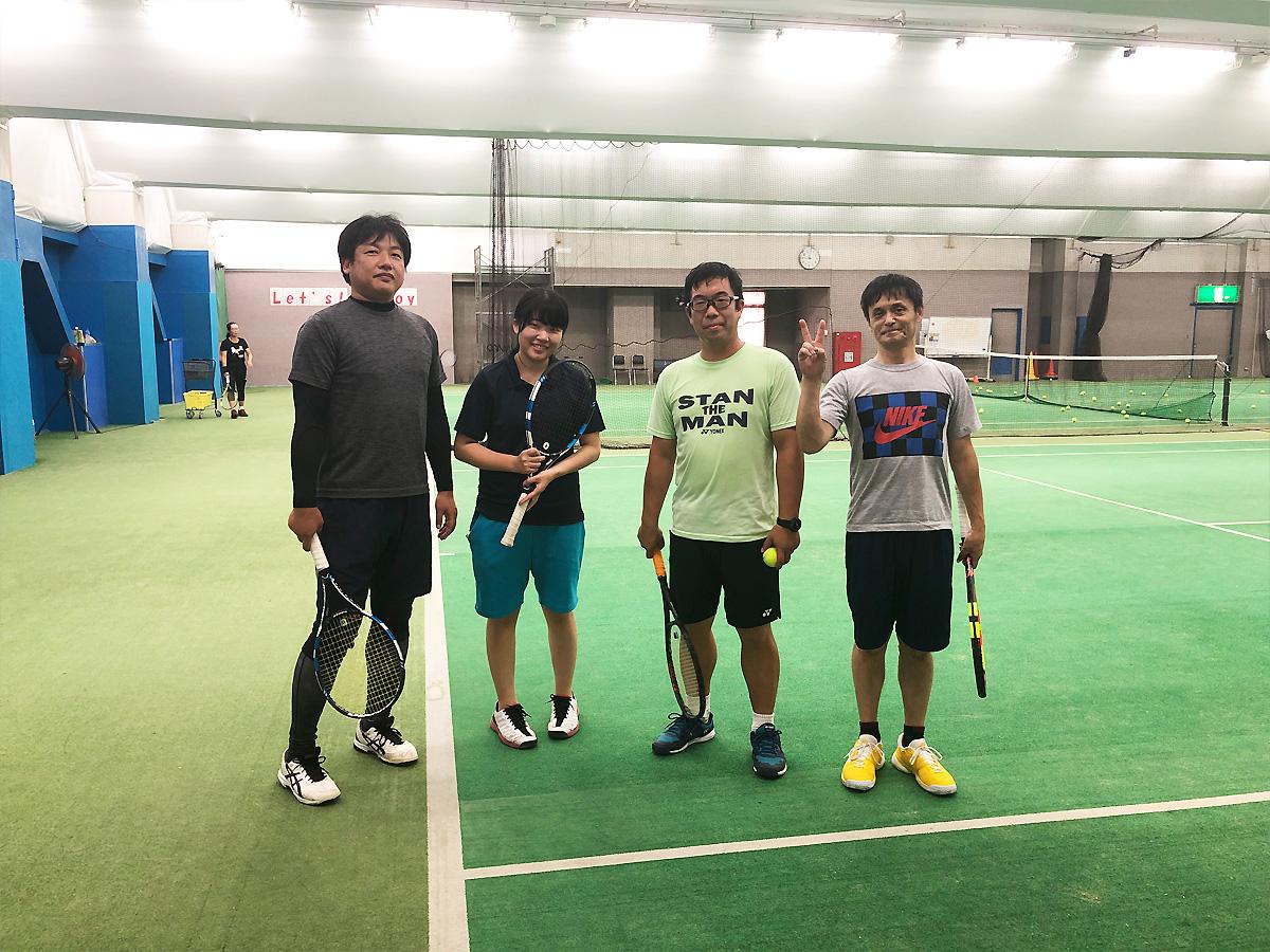 埼玉県草加市の東武松原インドアテニススクール レッスンイベント ダブルスマッチ練習会