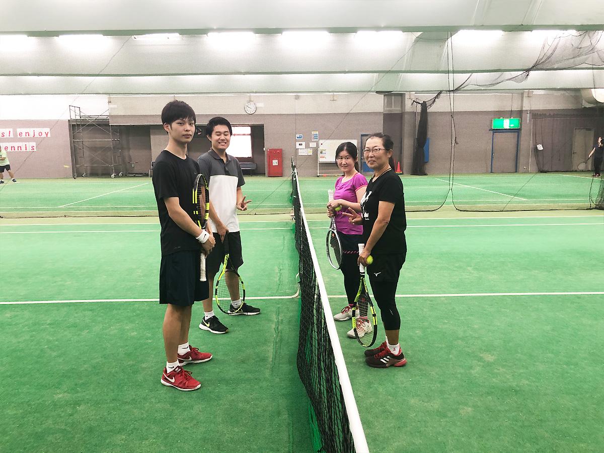 埼玉県草加市の東武松原テニススクール レッスンイベント ダブルスマッチ練習会