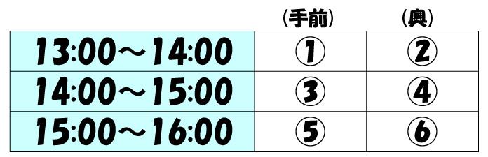 テニスコートレンタル時間割